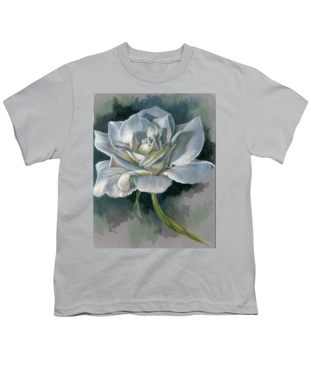 Rose Youth T-Shirt featuring the mixed media Innocence by Barbara Keith