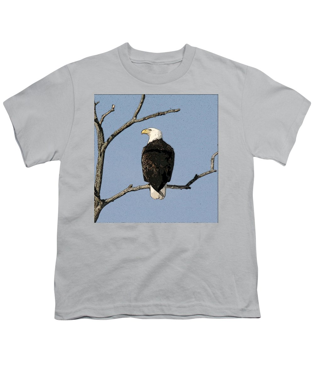 Eagle Youth T-Shirt featuring the photograph Look Out by Robert Pearson