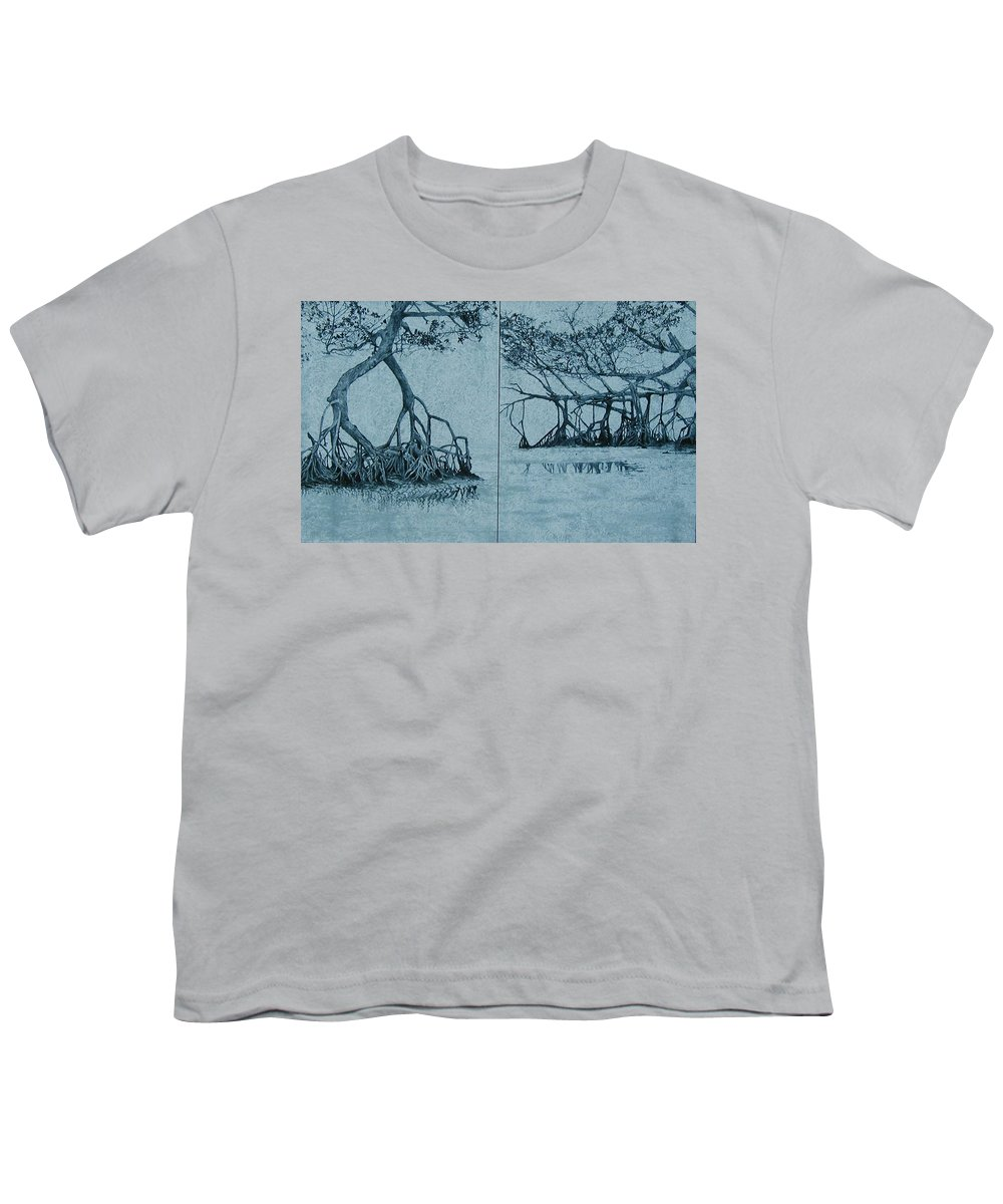 Blue Youth T-Shirt featuring the painting Mangroves by Leah Tomaino