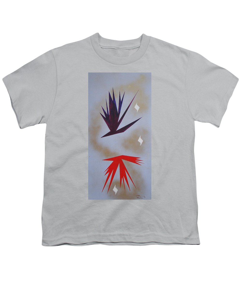 Birds Youth T-Shirt featuring the painting Mating Ritual by J R Seymour