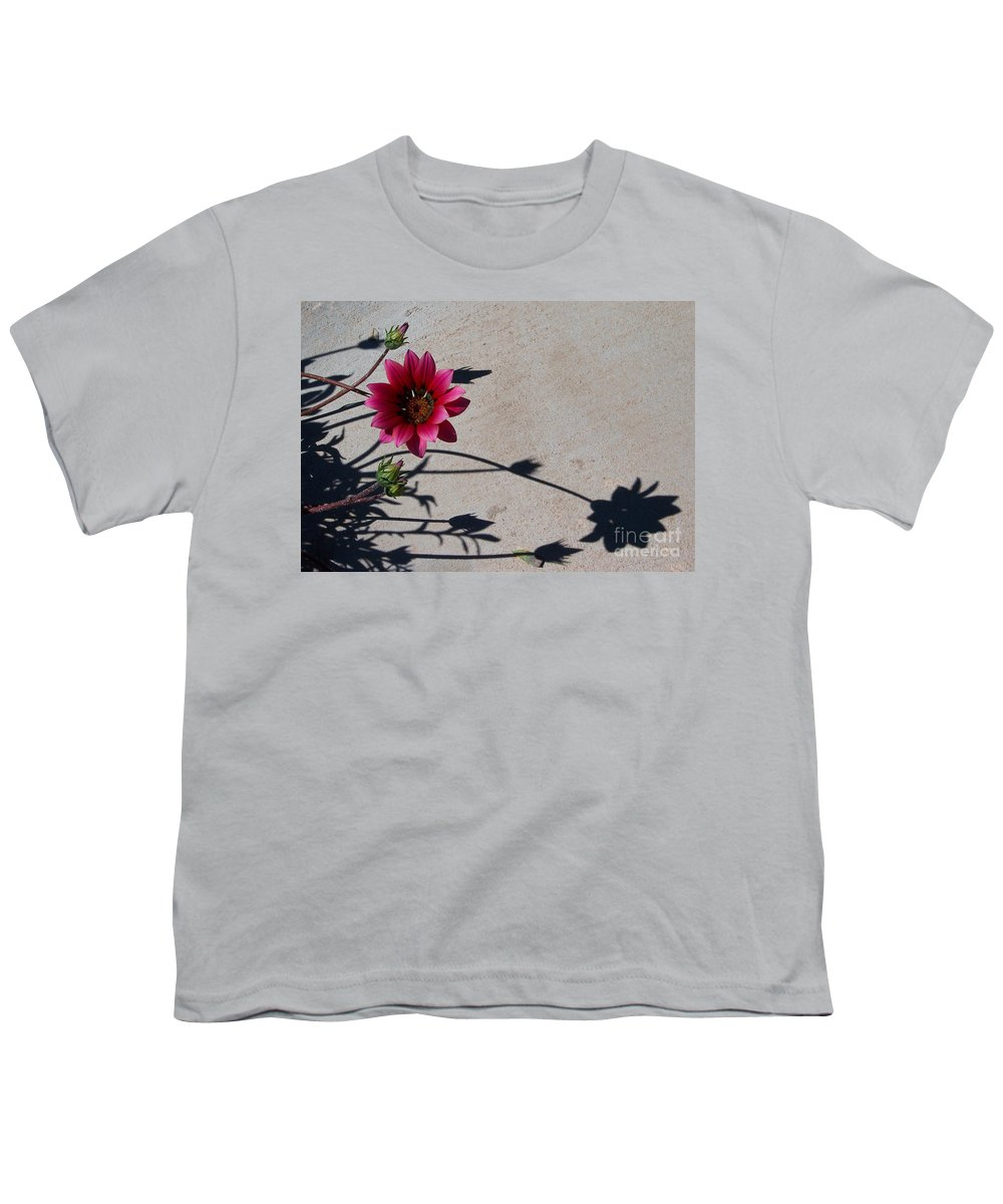 Flowers Youth T-Shirt featuring the photograph Me And My Shadow by Kathy McClure