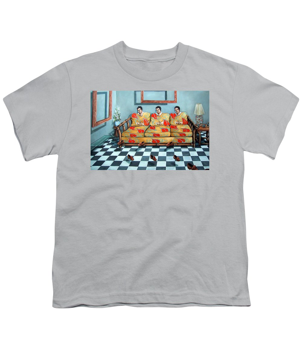 S Youth T-Shirt featuring the painting Meditation by Valerie Vescovi