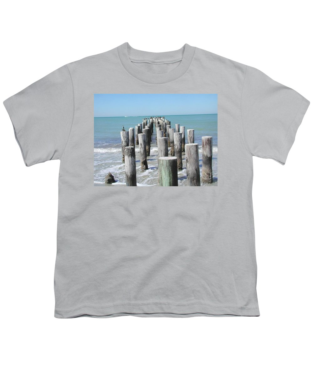 Ocean Youth T-Shirt featuring the photograph Naples Pier by Tom Reynen