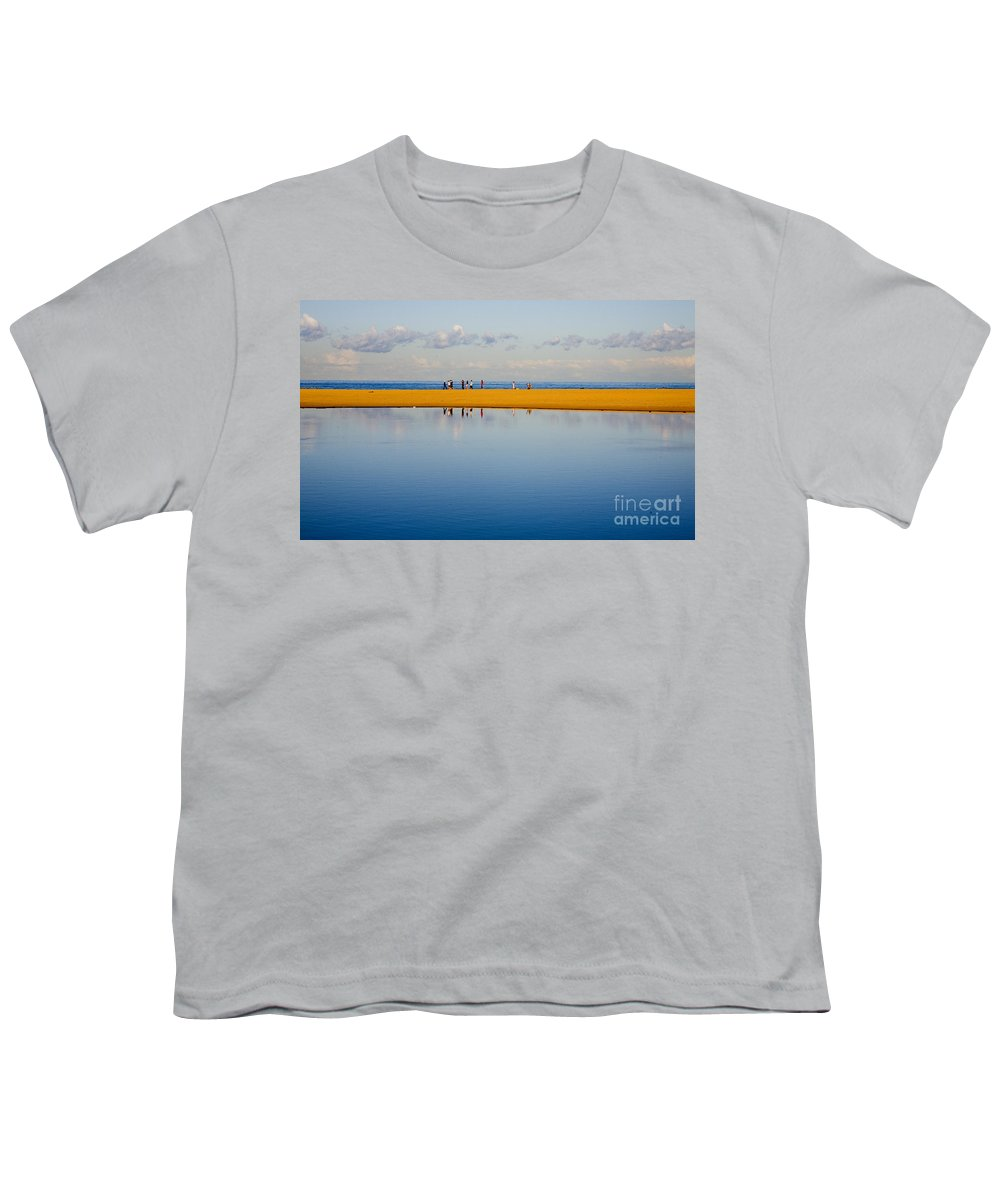 Dunes Lowry Sand Sky Reflection Sun Lifestyle Narrabeen Australia Youth T-Shirt featuring the photograph Narrabeen Dunes by Avalon Fine Art Photography