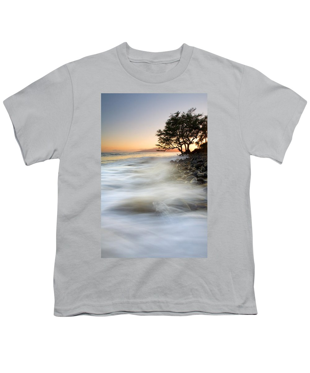 Sunset Youth T-Shirt featuring the photograph One Against The Tides by Mike Dawson