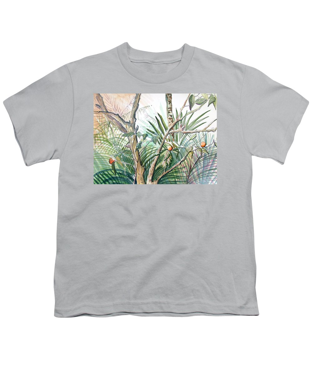 Fruit Youth T-Shirt featuring the painting Orange Tree by Mindy Newman