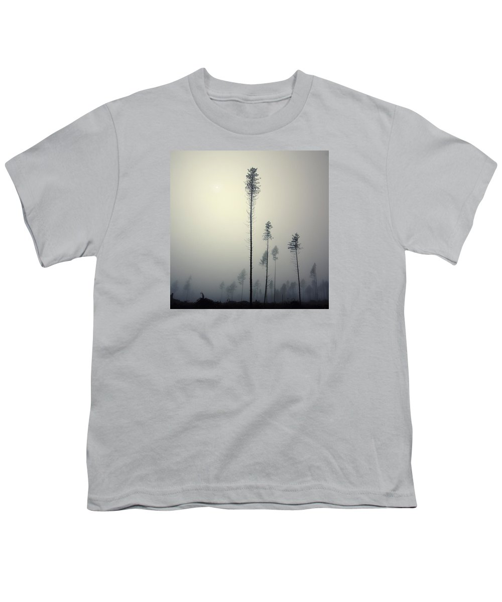 Mist Youth T-Shirt featuring the photograph Out of the Gray Ashes by Michal Karcz