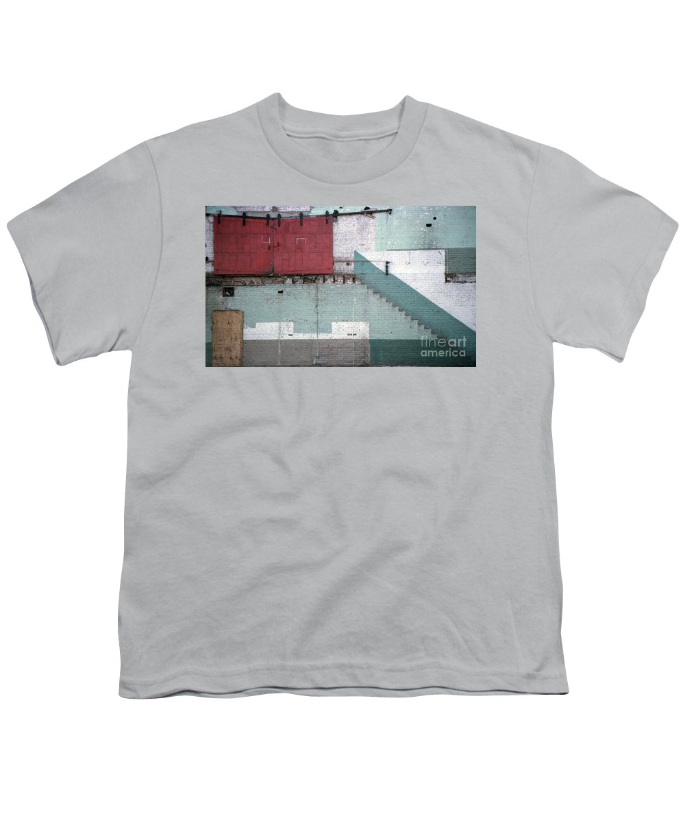 Abstract Youth T-Shirt featuring the photograph Partial Demolition by Richard Rizzo