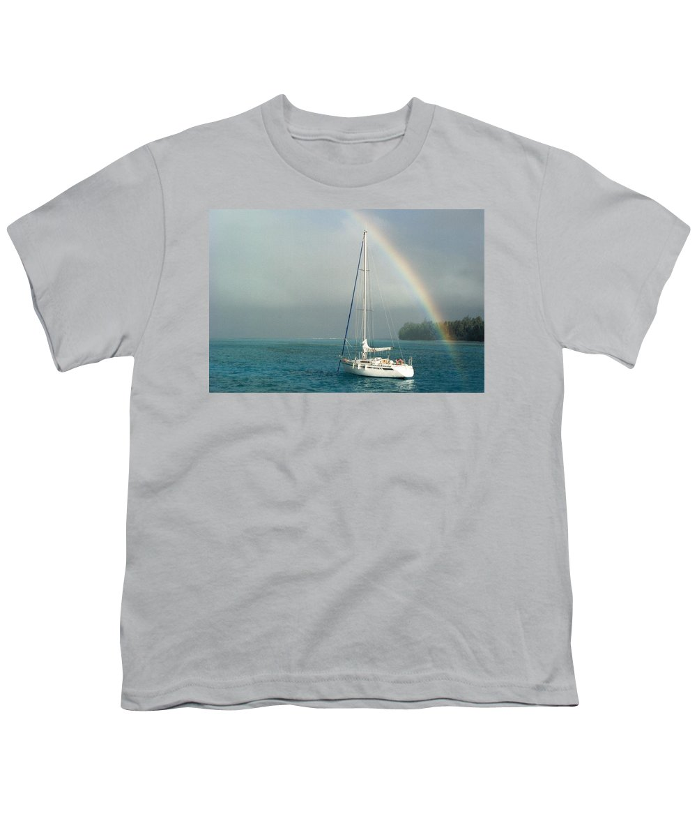 Charity Youth T-Shirt featuring the photograph Rainbow by Mary-Lee Sanders