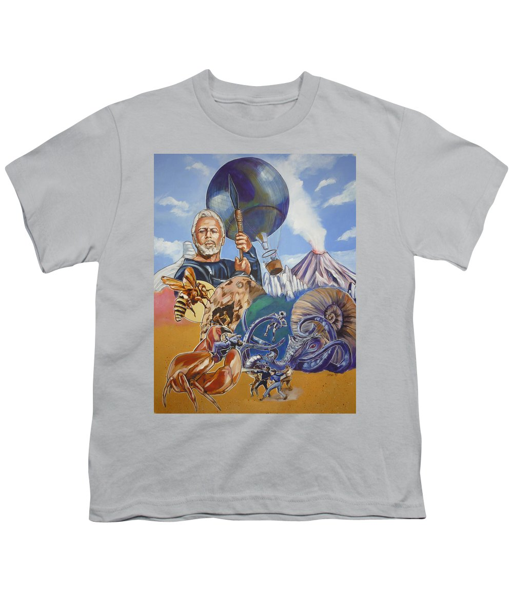 Mysterious Island Youth T-Shirt featuring the painting Ray Harryhausen Tribute The Mysterious Island by Bryan Bustard
