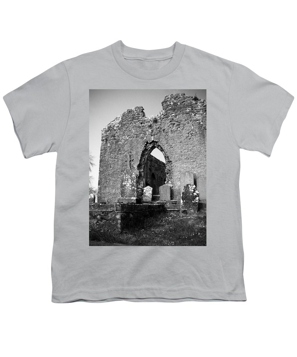 Ireland Youth T-Shirt featuring the photograph Rear Entrance Fuerty Church Roscommon Ireland by Teresa Mucha