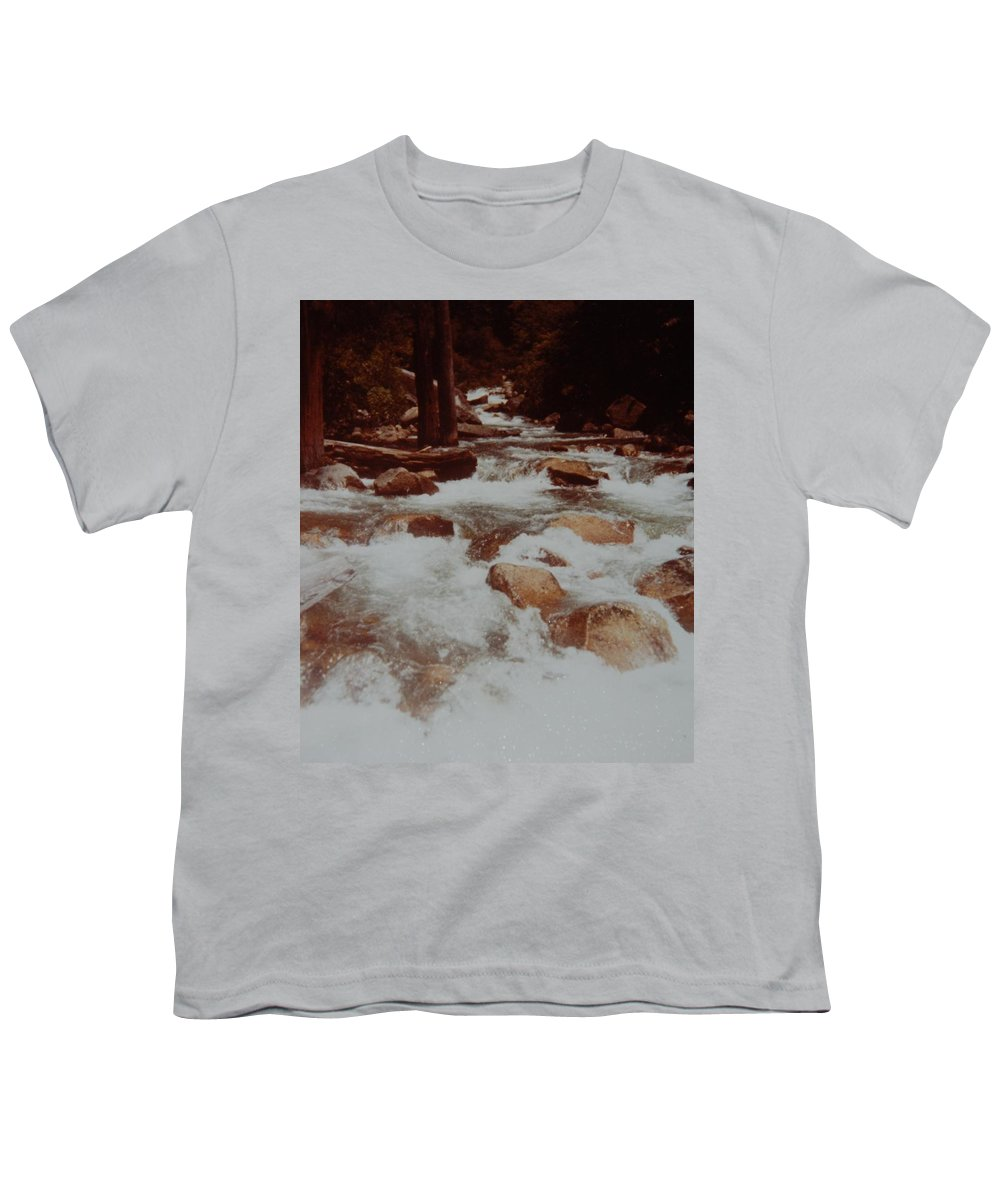 Water Youth T-Shirt featuring the photograph Rushing Water by Rob Hans
