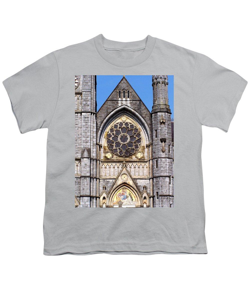 Ireland Youth T-Shirt featuring the photograph Sacred Heart Church Detail Roscommon Ireland by Teresa Mucha