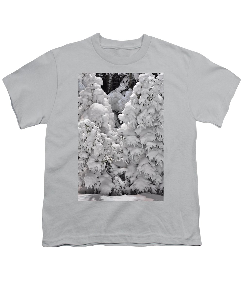 Snow Youth T-Shirt featuring the photograph Snow Coat by Alex Grichenko