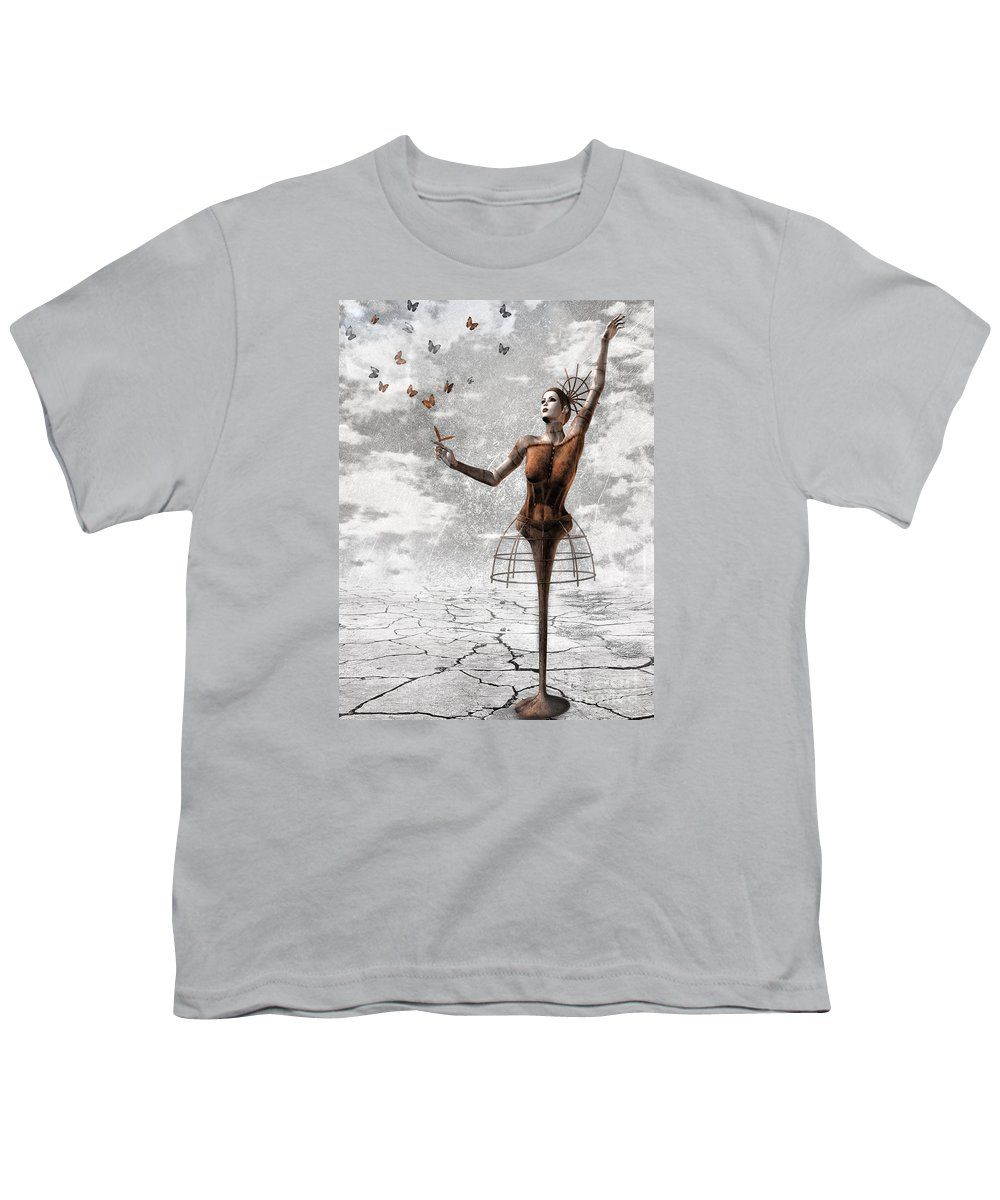 Surreal Youth T-Shirt featuring the painting Still Believe by Jacky Gerritsen