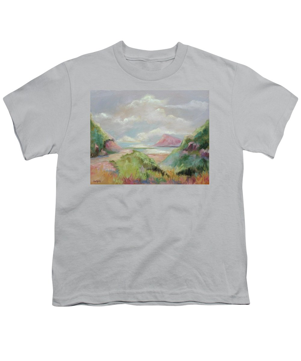 Seascape Youth T-Shirt featuring the painting Taiwan Inlet by Ginger Concepcion