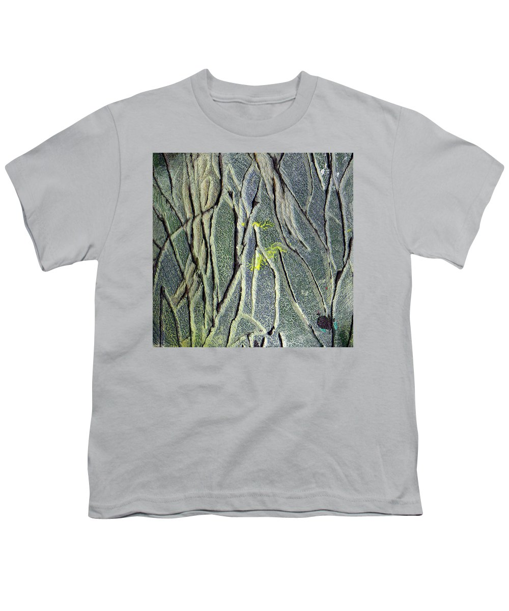 Abstract Youth T-Shirt featuring the painting Texture Study One  Entanglement by Wayne Potrafka
