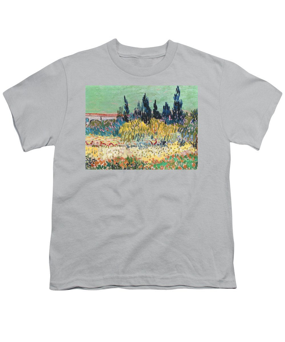 Garden In Bloom Youth T-Shirt featuring the painting The Garden at Arles by Vincent Van Gogh