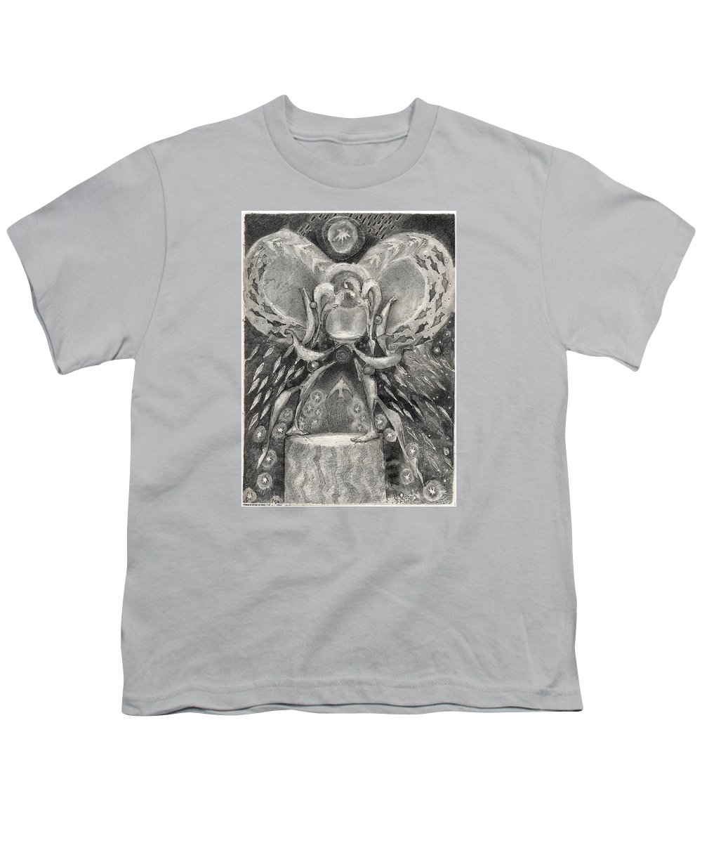 The Gift Youth T-Shirt featuring the drawing The Gift II by Juel Grant