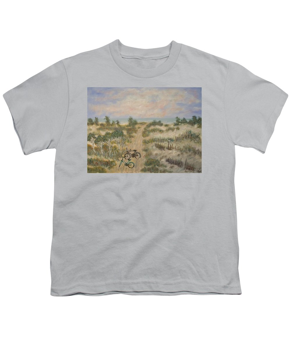 Beach Youth T-Shirt featuring the painting The Path by Ben Kiger