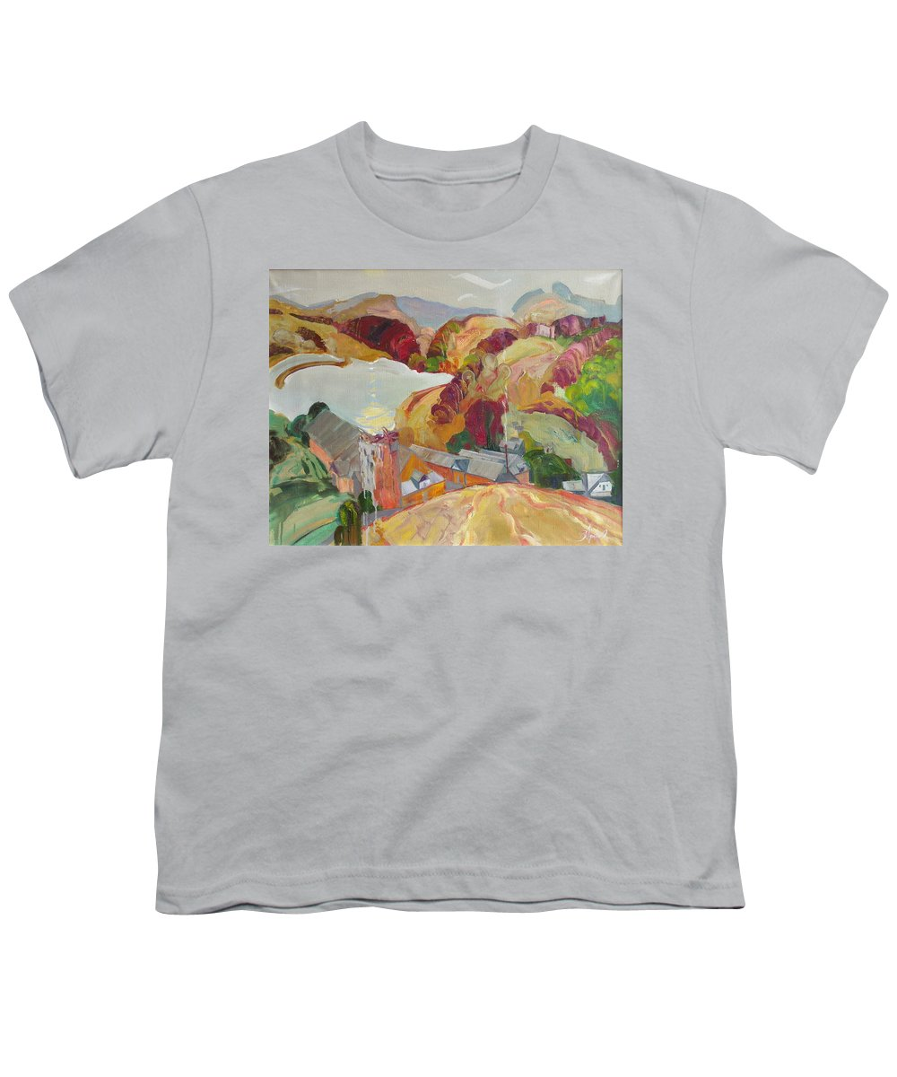 Oil Youth T-Shirt featuring the painting The Slovechansk Edge by Sergey Ignatenko