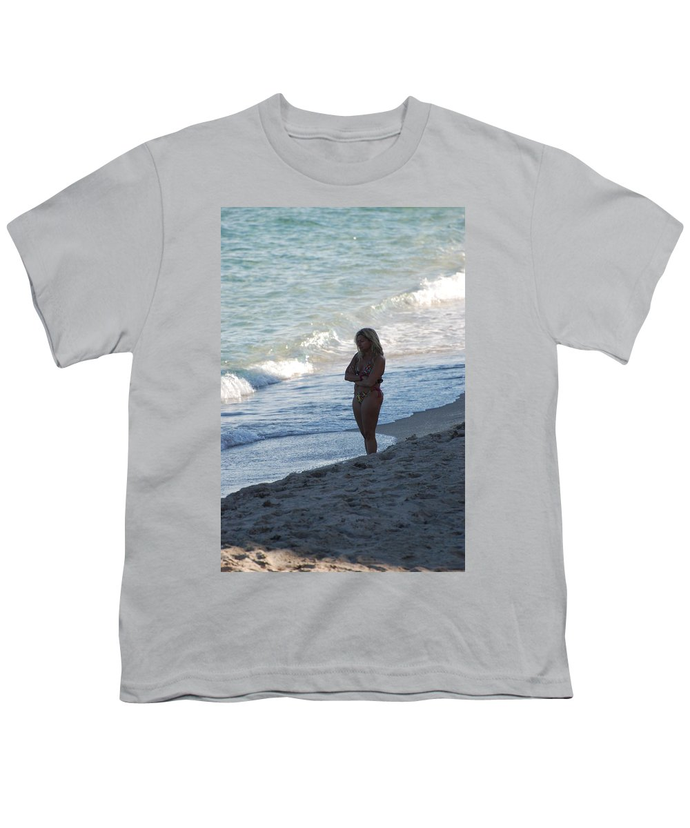 Sea Scape Youth T-Shirt featuring the photograph The Thinking Women by Rob Hans