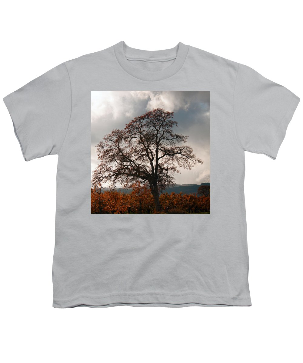 Autumn Youth T-Shirt featuring the photograph Touch The Sky by Merrill Beck