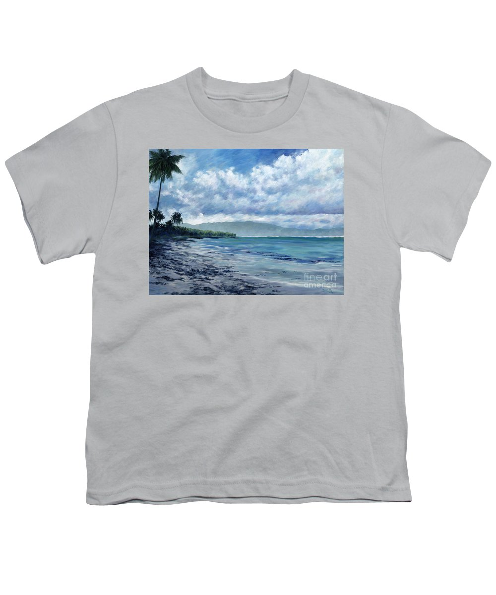 Seascape Youth T-Shirt featuring the painting Tropical Rain by Danielle Perry