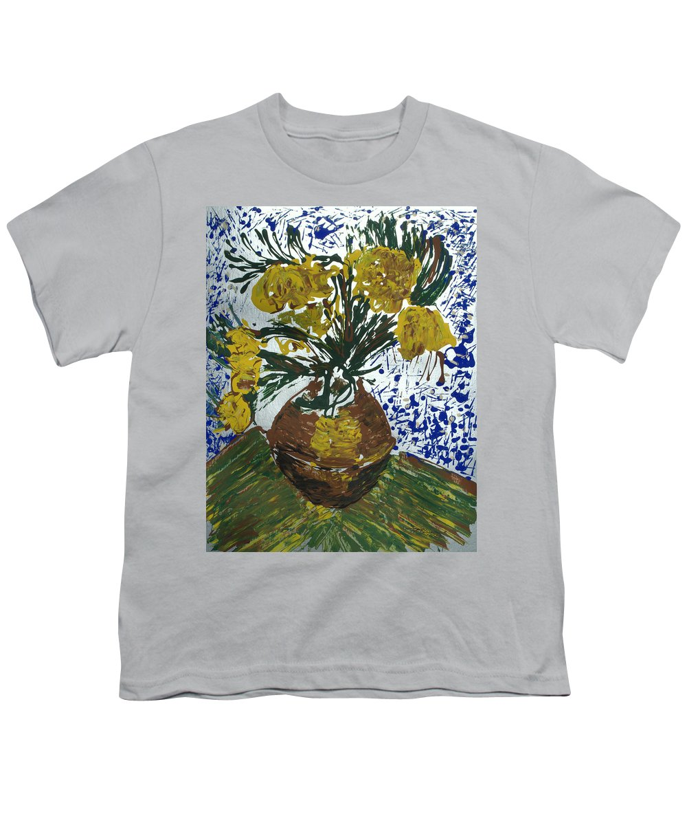 Flowers Youth T-Shirt featuring the painting Van Gogh by J R Seymour