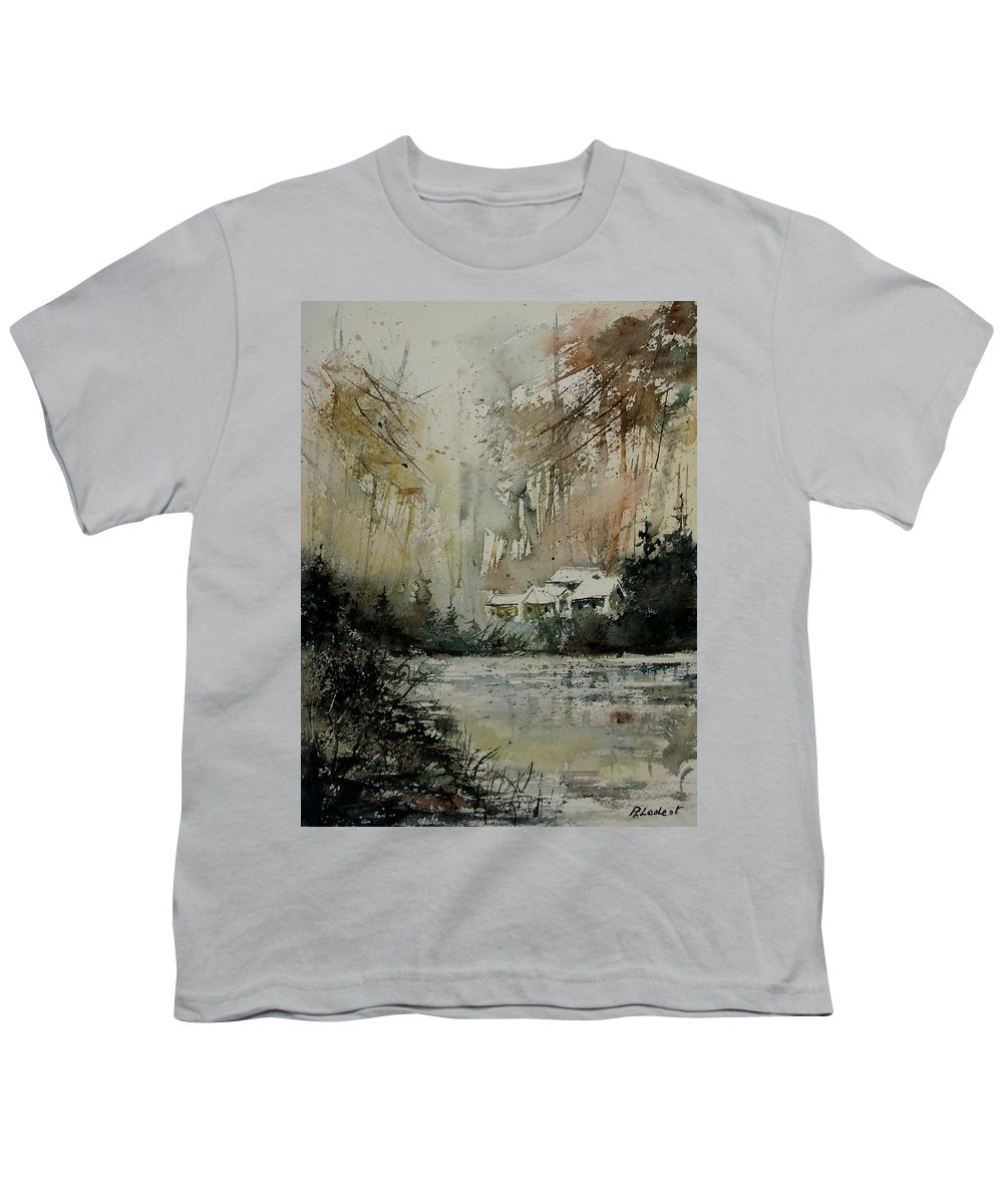 Landscape Youth T-Shirt featuring the painting Watercolor 070608 by Pol Ledent