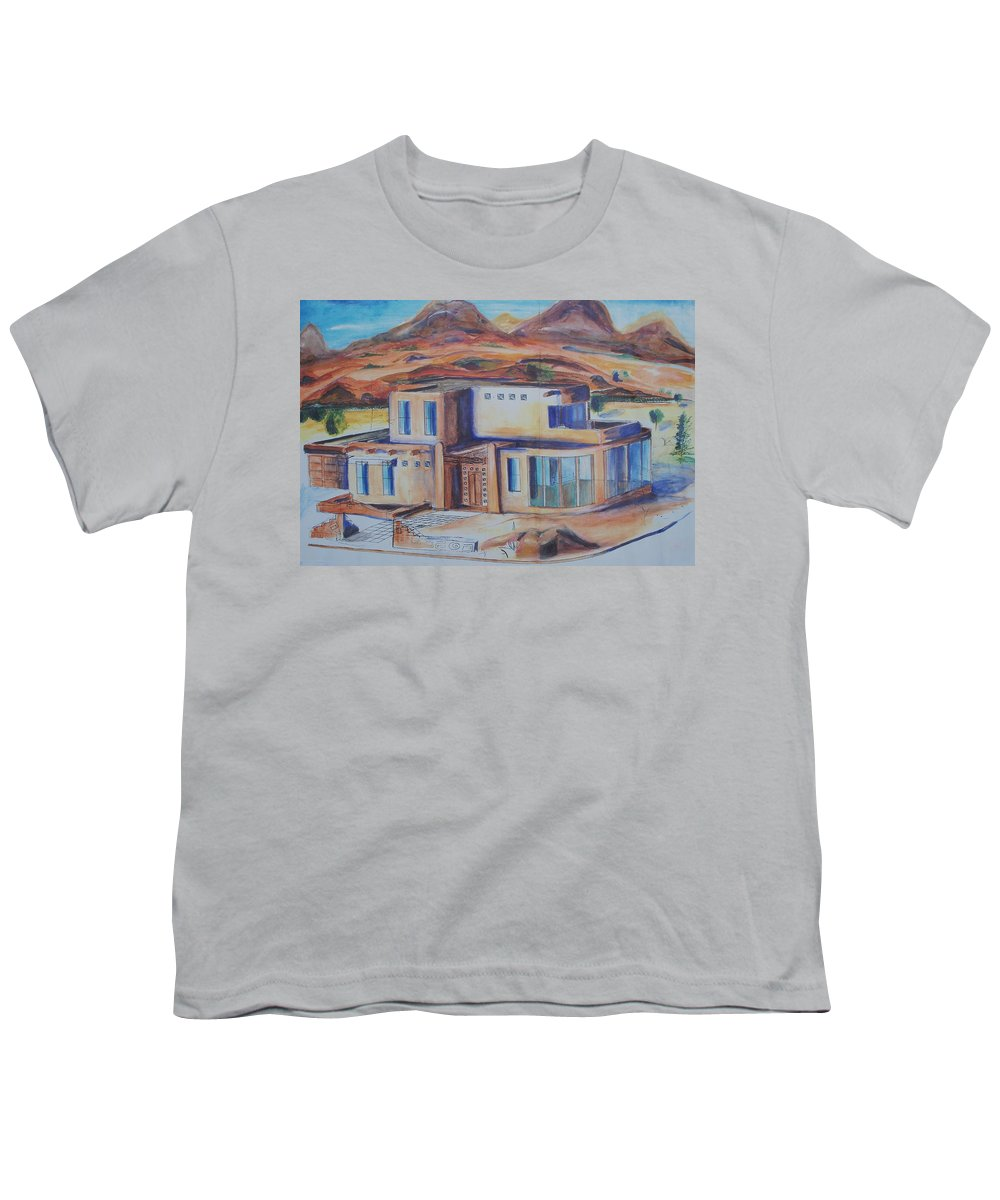 Floral Youth T-Shirt featuring the painting Western Home Illustration by Eric Schiabor