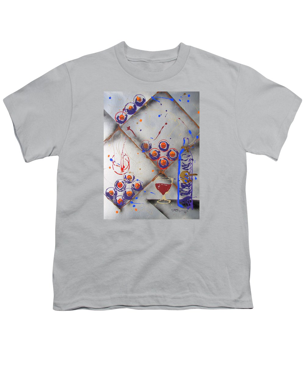 Wine Youth T-Shirt featuring the painting Wine Connoisseur by J R Seymour