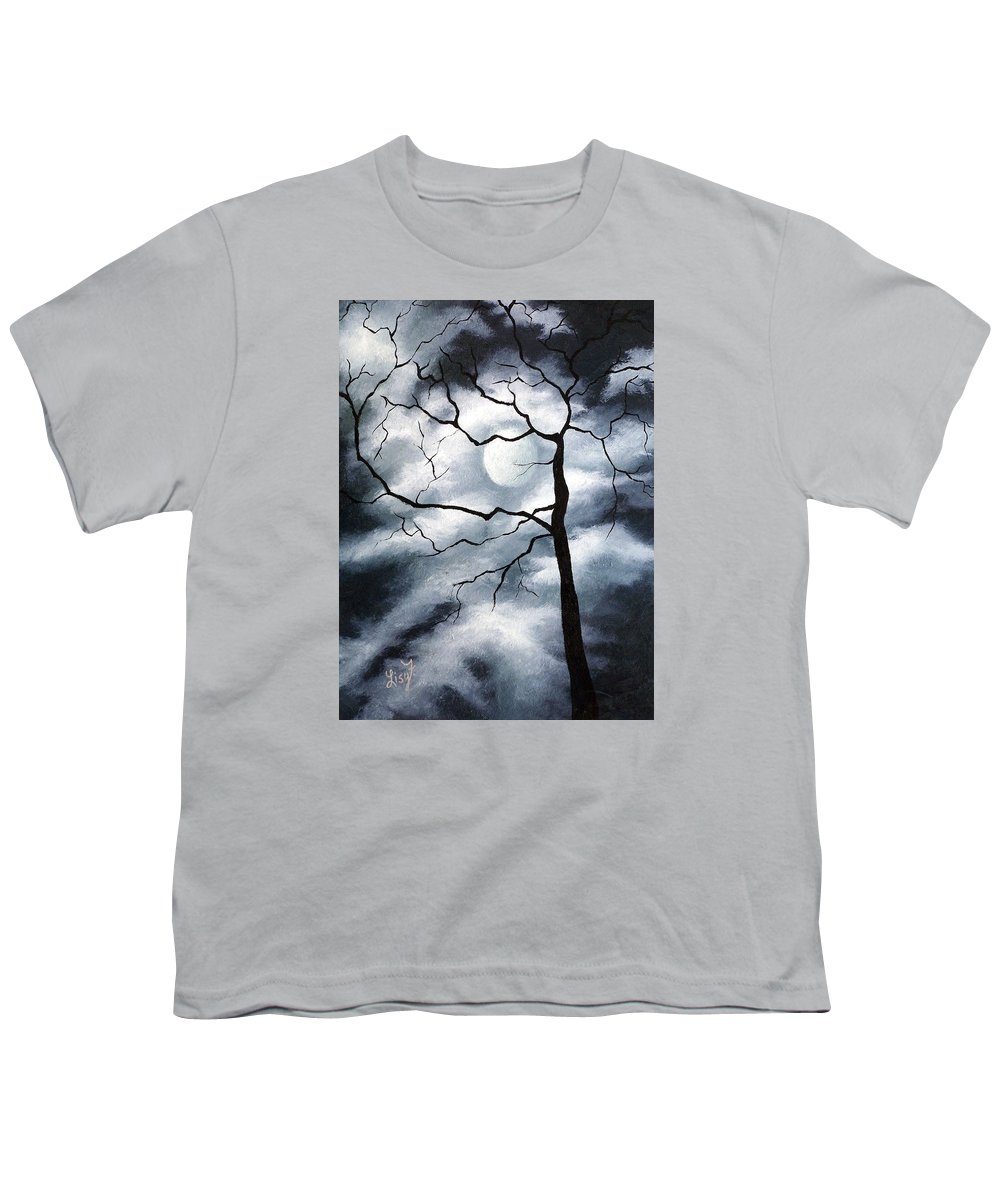 Winter Youth T-Shirt featuring the painting Winter Evening by Elizabeth Lisy Figueroa