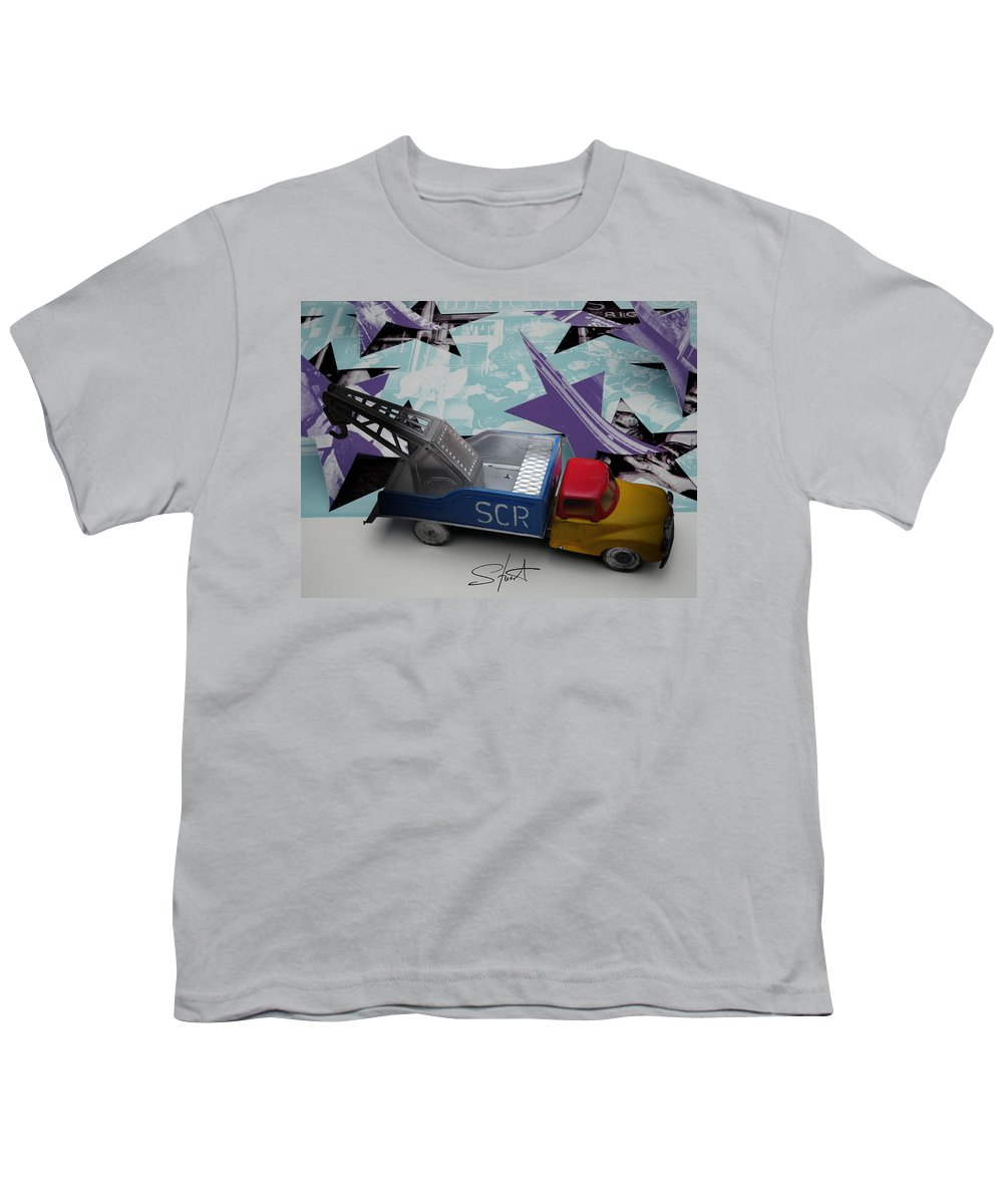Marilyn Youth T-Shirt featuring the photograph Wrecking Crew by Charles Stuart