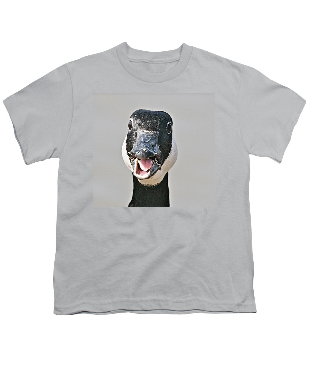 Goose Youth T-Shirt featuring the photograph Wwhhaaat by Robert Pearson