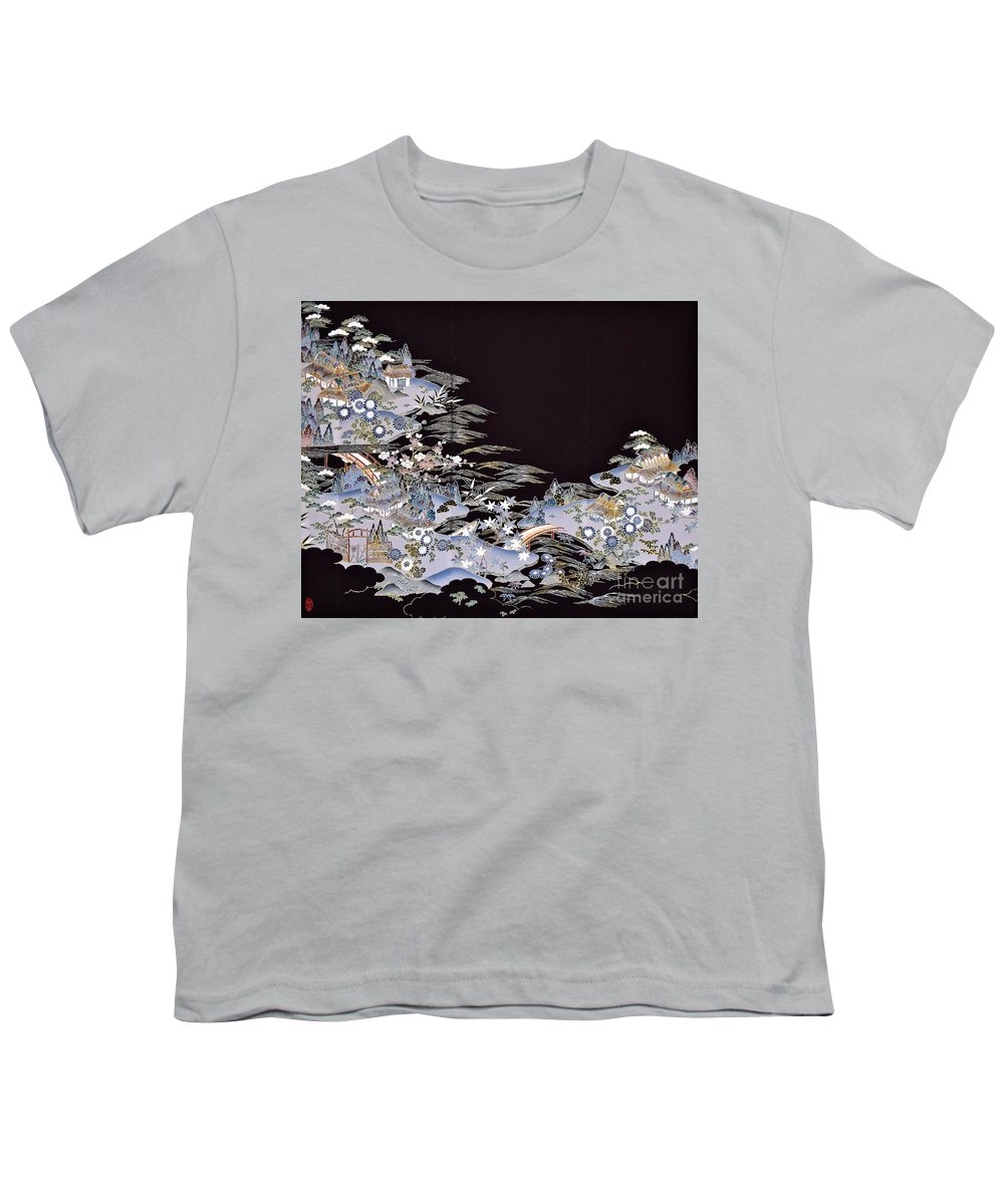 Youth T-Shirt featuring the digital art Spirit of Japan T53 by Miho Kanamori