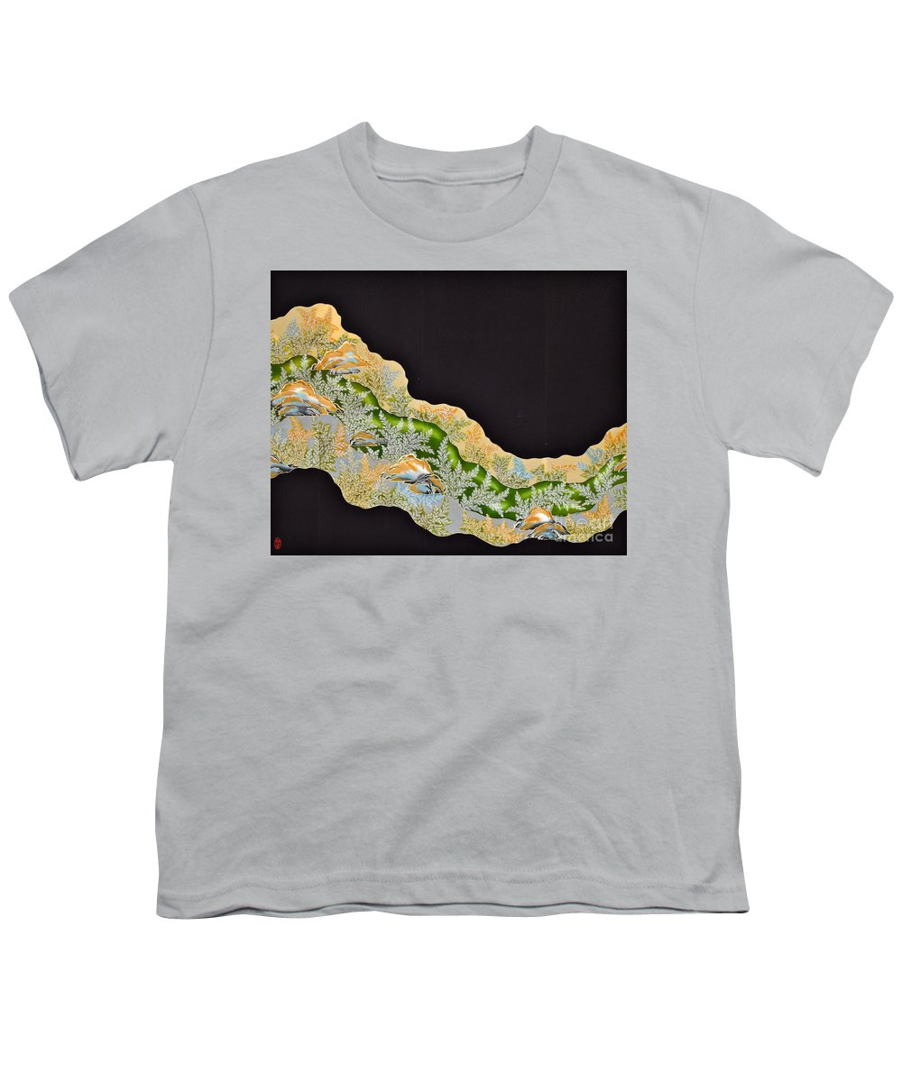 Youth T-Shirt featuring the tapestry - textile Spirit of Japan T50 by Miho Kanamori
