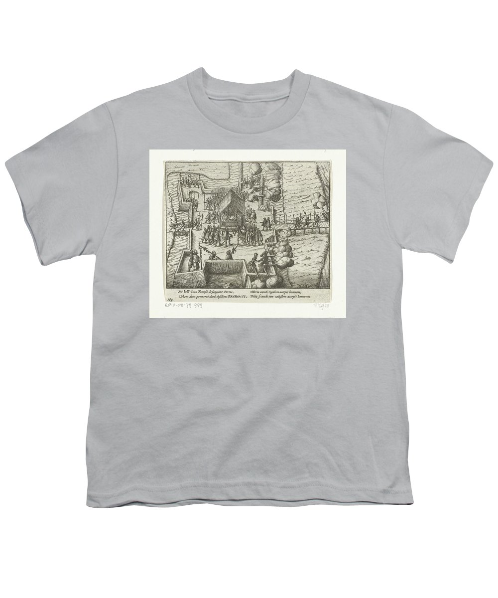 Nature Youth T-Shirt featuring the painting Parma Knighted In The Order Of The Golden Fleece, 1585, Anonymous, After Frans Hogenberg, 1613 - 161 by Frans Hogenberg