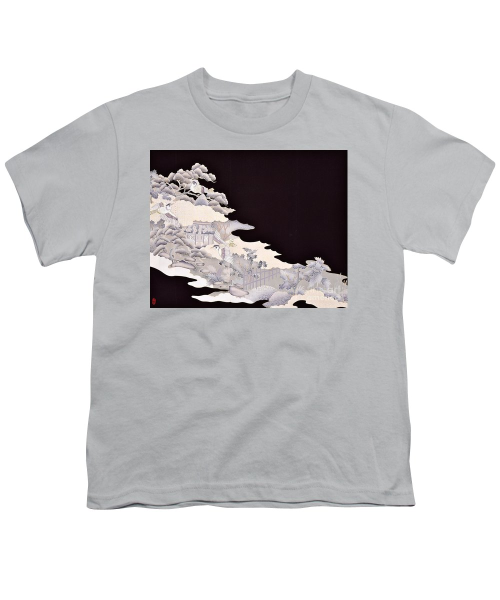 Youth T-Shirt featuring the digital art Spirit of Japan T19 by Miho Kanamori