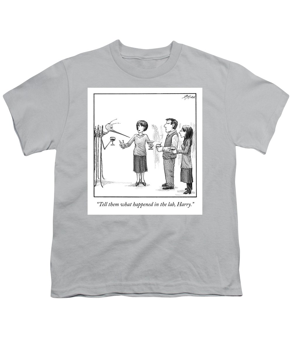 Cctk Youth T-Shirt featuring the drawing What Happened In The Lab by Harry Bliss