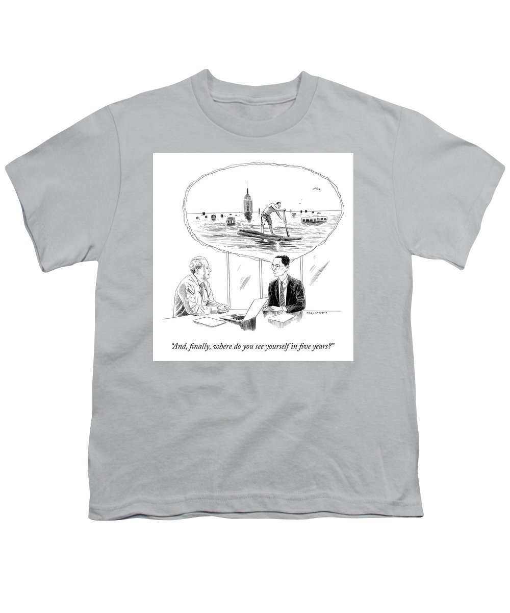 """""""and Finally Youth T-Shirt featuring the drawing Yourself In Five Years by Karl Stevens"""