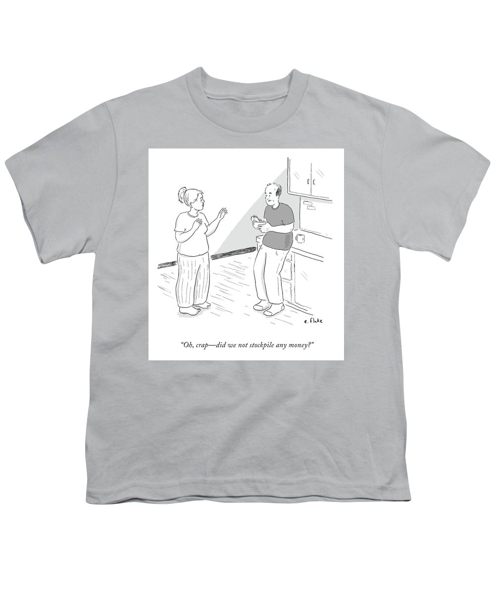 Oh Youth T-Shirt featuring the drawing Oh, Crap by Emily Flake
