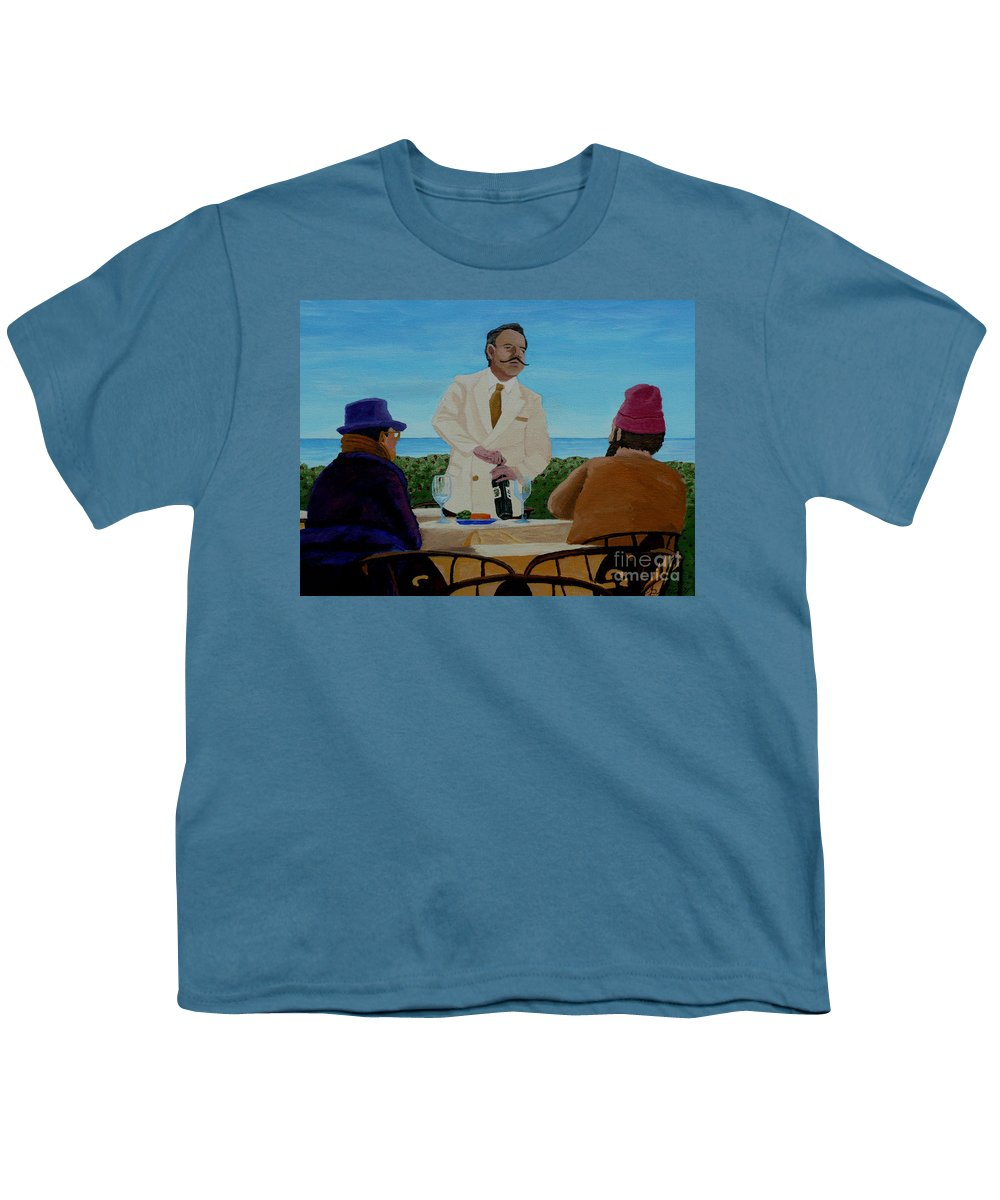 Wine Youth T-Shirt featuring the painting A Fresh Bottle by Anthony Dunphy