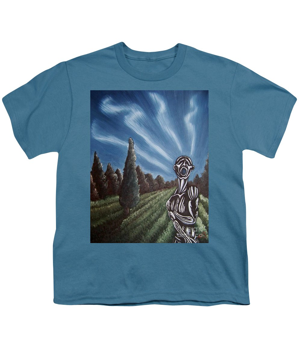 Tmad Youth T-Shirt featuring the painting Aurora by Michael TMAD Finney