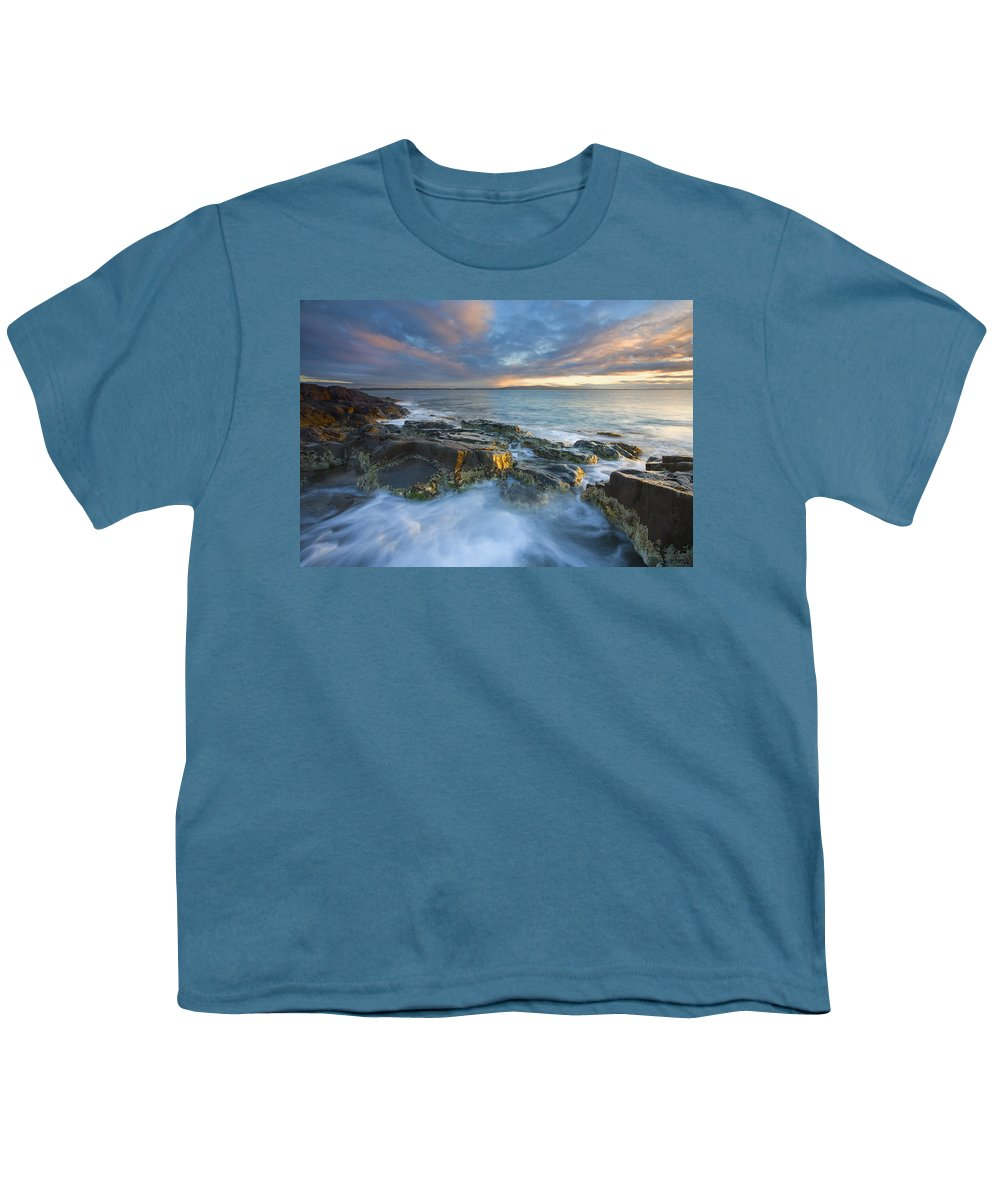 Freycinet Youth T-Shirt featuring the photograph Freycinet Cloud Explosion by Mike Dawson