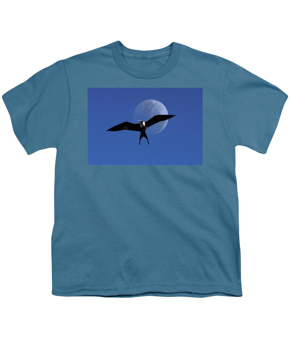 Frigate Youth T-Shirt featuring the photograph Frigatebird Moon by Jerry McElroy
