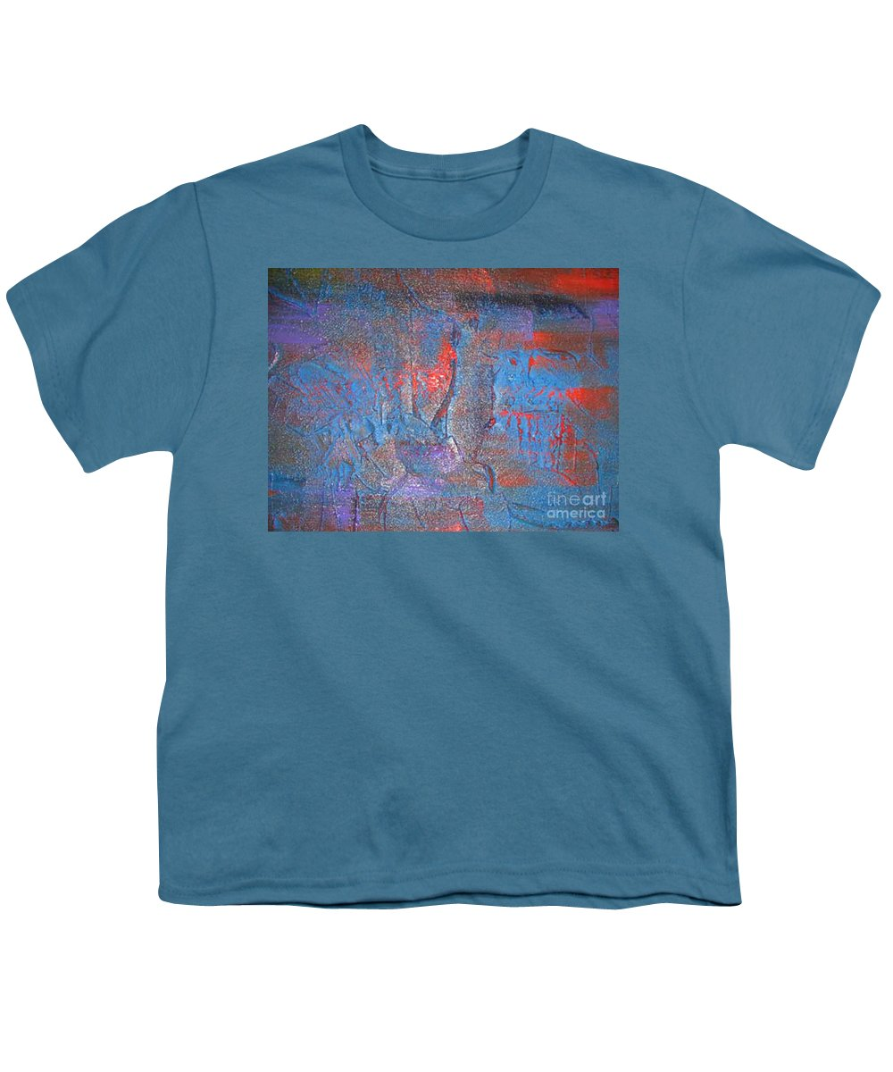 Abstract Youth T-Shirt featuring the painting Funny Rain by Silvana Abel