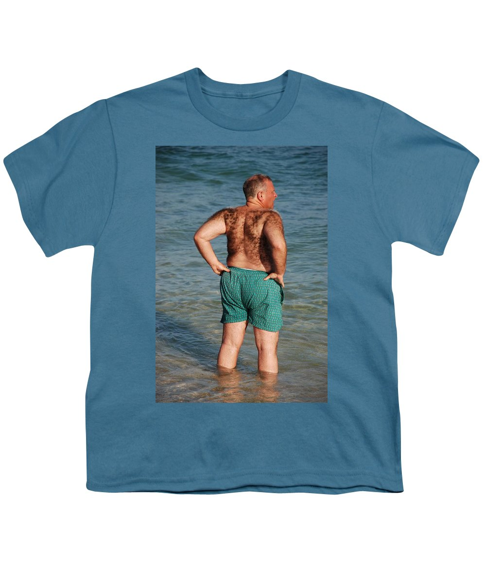Man Youth T-Shirt featuring the photograph Hairy Ocean by Rob Hans