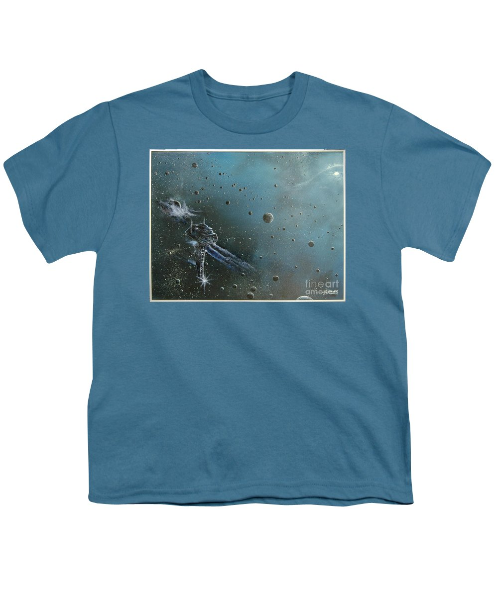 Astro Youth T-Shirt featuring the painting Hiding In The Field by Murphy Elliott