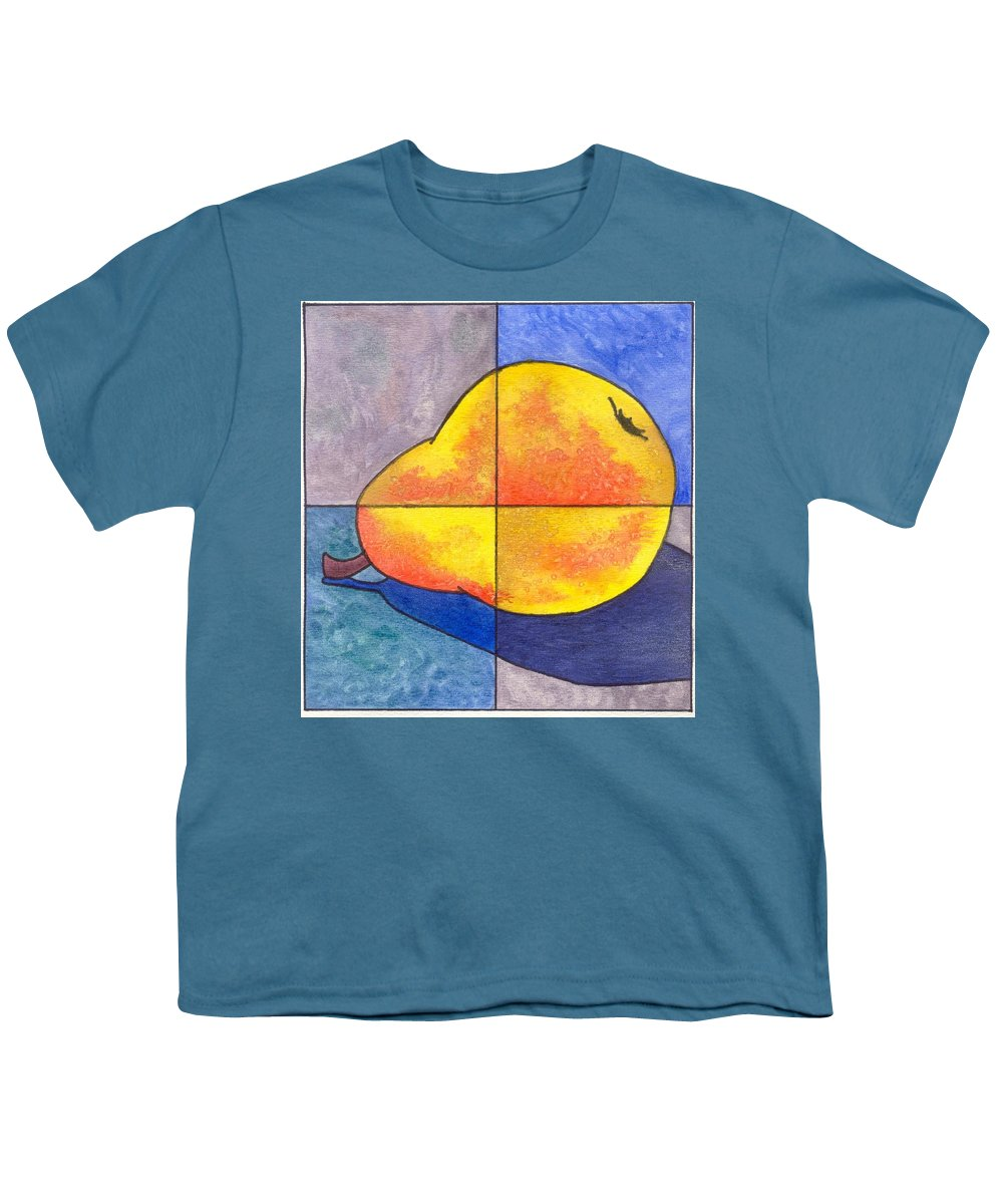 Pear Youth T-Shirt featuring the painting Pear I by Micah Guenther